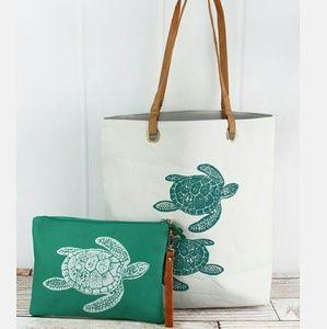 Handbags - New Large Tote & Wristlet Bag Set of 2!